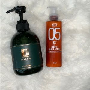 AMH shampoo and AMOS night cream